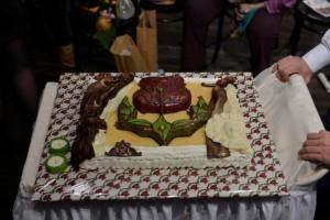Праздничный торт, подготовленный специально для Церемонии